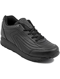 Asian Shoes Boy's TECHNO Black School Range