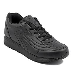 Asian Shoes Boys TECHNO Black School Range 8 UK/Indian