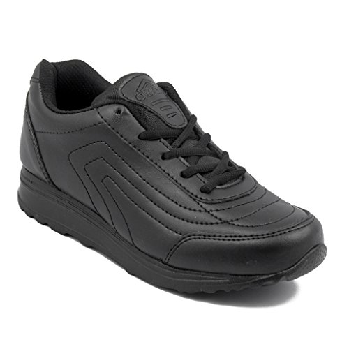 Asian Shoes Boy's TECHNO Black School Range