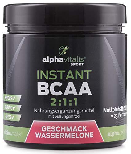 Instant BCAA Pulver mit leckerem Geschmack - 100{d65c36a607abd405e2951e29beab4e445519ca0fe1ec6bda90ecdbd8557cba16} vegan - essentielle Aminosäuren (Wassermelone, 300g)
