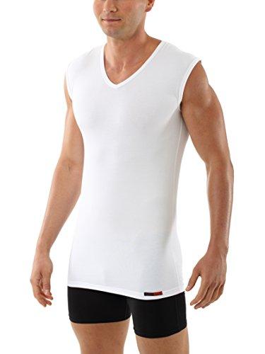 Albert Kreuz V-Unterhemd Business Herrenunterhemd aus Stretch-Baumwolle ohne Arm weiß 7/XL (Stretch-baumwolle Unterhemd)