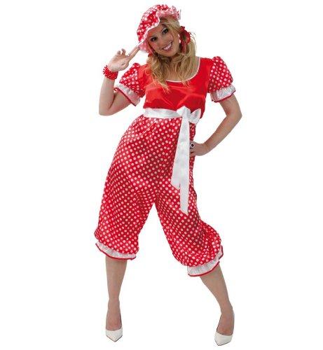 Fasching Karneval Kostüm Badeanzug 20th, Overall m.Gürtel u.Mütze: Größe: 46