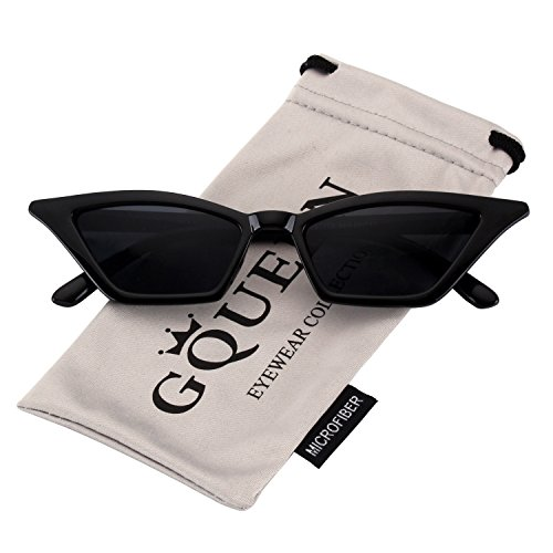 abdb09aa2c GQUEEN Clout Goggles Vintage Cat Eye Sunglasses Mod Style UV Protection  Kurt Cobain shades