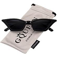GQUEEN Gafas Vintage Clout Lentes de sol tipo ojo de gato Estilo a la moda y