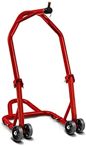 Constands Motorrad Lenkkopf Montageständer Für Buell Xb12 Scg Lightning Low 06 10 Rot Inkl Adapter 19mm Vorne Classic Frontheber Auto