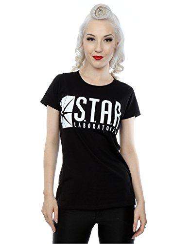 dc-comics-damen-the-flash-star-labs-t-shirt-xx-large-schwarz