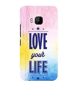EPICCASE love towards life Mobile Back Case Cover For HTC One M9 (Designer Case)