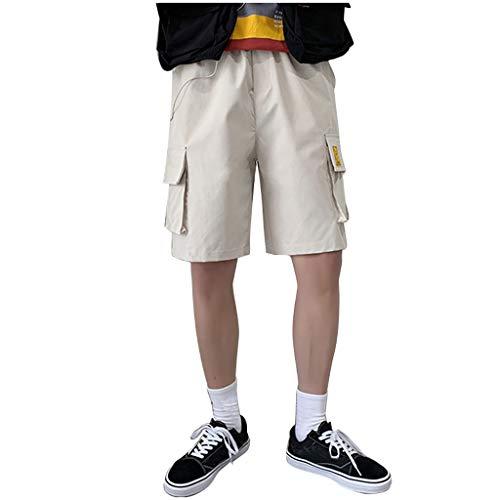 MakefortuneLässige Herren Work Cargo Combat Shorts Baumwolle Chino Sommer Half Pant Shorts Schwarz Weiß Plus Size M-XXXXXL - 08 Womens Pink T-shirt
