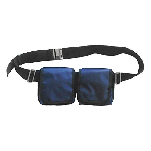 D DOLITY Tauchgurt mit Taschen Edelstahl Gürtelschnalle Verstellbar Tauchgewichte Gürtel Bleigürtel Tauchgürtel mit Tasche - mit 2 Taschen