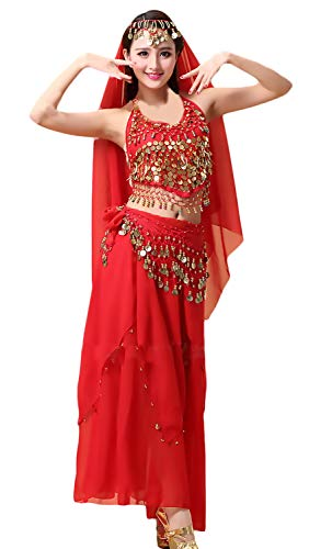 Damen Festliches Elegant Indisch Performance- Bauchtanz Kostüm Uni-Farben -