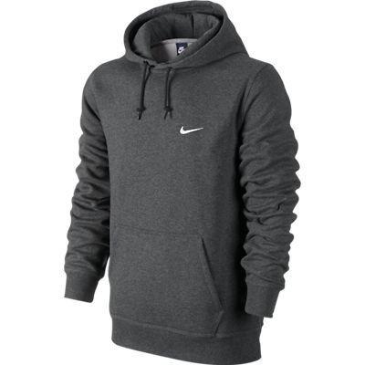 Nike Herren Kapuzenpullover Club Swoosh, charcoal heathr /white, M, 611457-071