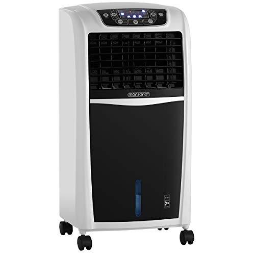 Monzana Mobiles Klimagerät 4in1 | Fernbedienung 8 L Tank Timer | Ventilator Klimaanlage Ionisator Luftbefeuchter Luftkühler