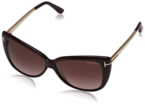 Tom ford ft0512 sunglass pant, montature donna, black gold with violet rose, 59