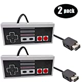 Gollec Wired Controller Compatible with Nes Mini Edition, 6 Feet Classic Retro Game Pad Joystick Gamepad for Nintendo Gaming System(Gray and Gray)