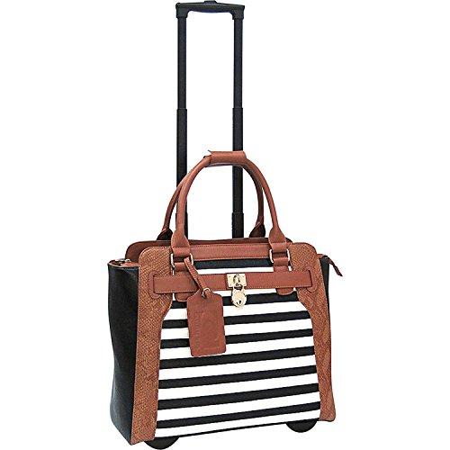 Cabrelli Sally Stripe 38,1 cm (15 Zoll) Laptop-Rollershorts, Schwarz/Grau/Cognac -