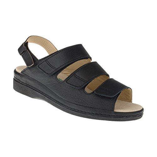 tessamino Damen Orthopädie Sandalen aus Leder | Weite J | für Einlagen Damen Diabetiker-sandalen