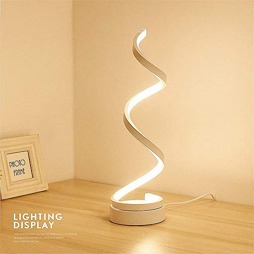 MKVERAYY Standleuchten Dimmbare LED Spirale Stehlampe,24W Einstellbar Licht Moderne Kreative Einzigartige Art Perfekt für Innendekoration Beleuchtung/Wohnzimmer Lampe -