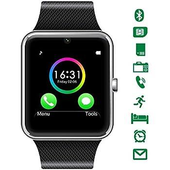 Montre Connectée,CHEREEKI Bluetooth Smartwatch avec appareil photo prend en charge SIM Card TF Card Wrist Phone Watch