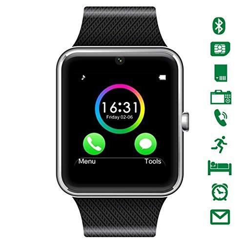 CHEREEKI Smartwatch Bluetooth [Cinturino leggero], orologio da polso Smart Touchscreen. Smart Watch Supporta SIM Card e, TF Card, pedometro, fotocamera remota, modalità sonno per Android Smartphones