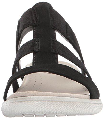 Ecco Damara Peeptoe Black Sandal Schwarz Damen PTw5rqP