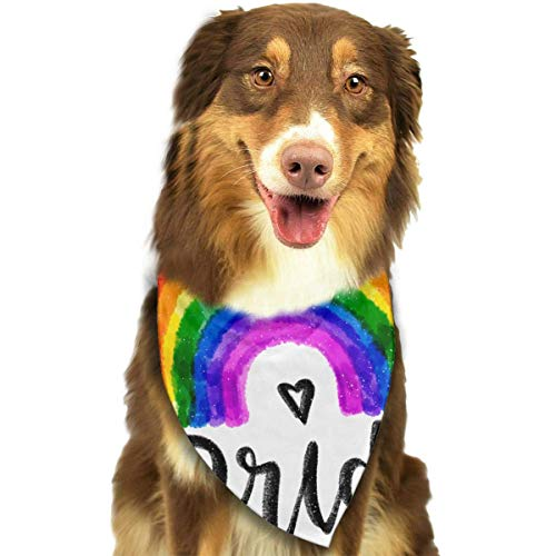 Rghkjlp Pride Love Wins Pet Bandana Washable Reversible Triangle Bibs Scarf - Kerchief for Small/Medium/Large Dogs & Cats