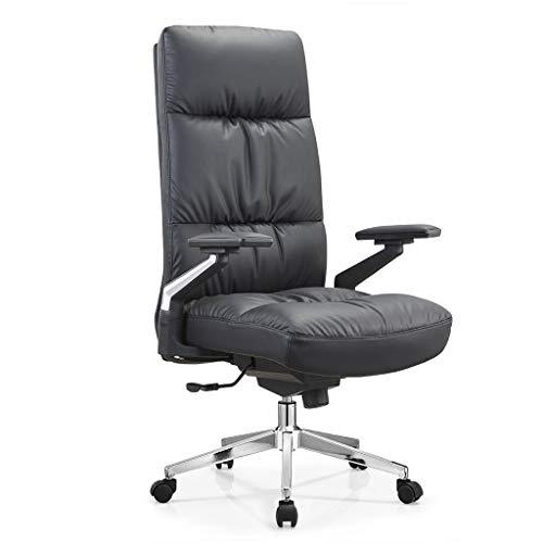 OUG Chefsessel mit hoher Rückenlehne, ergonomisches Design mit hoher Rückenlehne, hohes Rückprallschwammkissen, sicher und langlebig, geeignet für Büroangestellte (schwarz)
