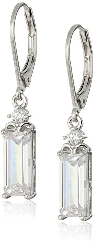 nicole-miller-baguette-drop-leverback-rhodium-drop-earrings