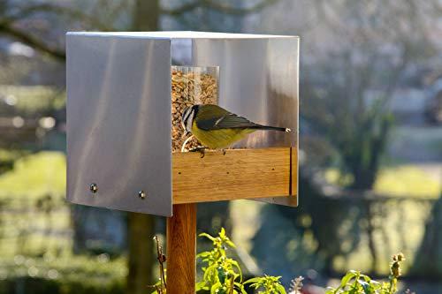 Luxus-Vogelhaus 46861e Eichenholz Vogelfutterhaus mit Ständer - 3
