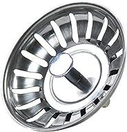 Abflusssieb für Küchenspüle, Edelstahl, Abflusssieb mit Griff, Durchmesser 78 mm - 80 mm Zubehör für Küchenspü