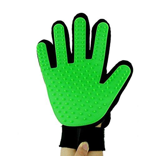 Meijunter Green Right Hand del animali pulizia massaggio guanto spazzola per pettine