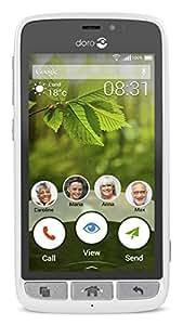 conception de la variété vente pas cher acheter mieux Doro 8031 Smartphone Compact Blanc/Argent