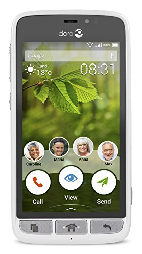 Doro Liberto 8031 4.5' 4G 8GB 2000mAh Blanco - Smartphone (11,4 cm (4.5'), 8 GB, 5 MP, Android, 5.1, Blanco)