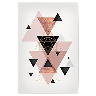 artboxONE Poster 30x20 cm Geometric Compilation in Blush von Künstler Linsay Macdonald