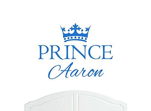 Prince Aaron Grand sticker mural avec décoration de la paroi de la Couronne, Stickers Muraux, Papier Peint, Choix de Couleurs en Vinyle