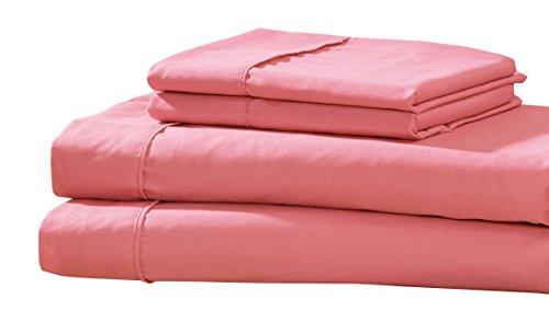 RT Designer Collection Kissenbezug und Betttuch Set, Coral, King (Queen-size-bett-bag-sets)