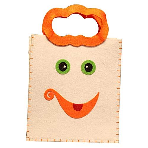 Joyfeel buy 1 Stück Halloween Tasche Kinder Smiley-Gesicht Muster Geschenkbeutel Süßigkeitstasche Handtasche Eimer für Kostüm Party