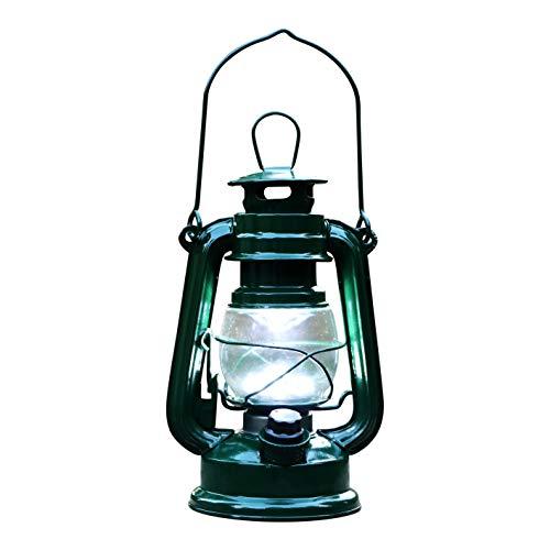 PK Green Erstklassige Sturmlaterne LED Batterie   Laterne Dimmbar Metall Grün   Höhe 19cm   Öllampe Windlaterne Garten, Draußen, Outdoor, Innen   Gartenlaterne Sturmlampe Lampe Vintage Retro Hängend