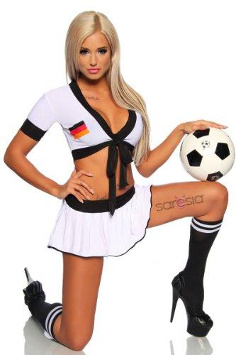 Trikot-Set , Größe:S/M (Sexy Kostüme Fußball)