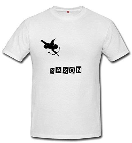 T-shirt Saxon - Print Your Name White