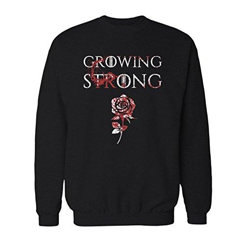 Tyrell Margaery (Fashionalarm Herren Sweatshirt - House Tyrell Growing Strong | Fan Pullover mit Motto Spruch als Geschenk Idee zur GoT Serie Kräftig Wachsen Rose,)