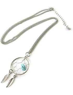 Halskette fächerkette 'Navajos'türkis (traumfänger).