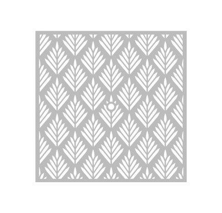 Pochoir Géométrique 32 x 32 cm - Pochoir Feuilles - Stencil Géométrique