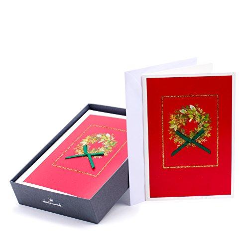 """Hallmark Thomas Kinkade Weihnachtskarten, mit englischsprachiger Aufschrift""""Bringing Home the Tree"""" (16 Karten und 17 Umschläge) Kranz Wreath"""