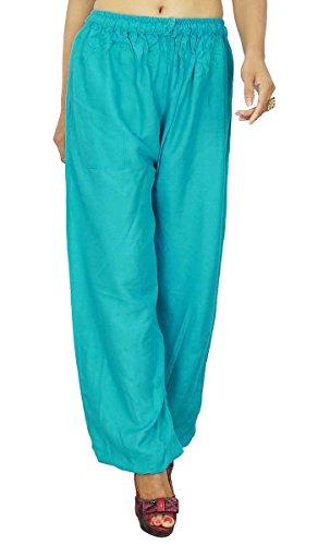 Indiens Harem Pants Mens pyjama lâche Yoga Hipster WorkoutGypsy Pyjamas Green-1