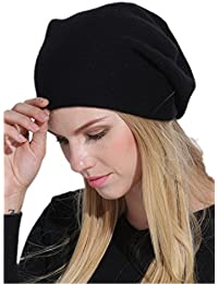 Prettystern LUXURY 100% Cashmere Wool Beret Cap Beanie 2-Ply woven Unicolour - 6 Colours Available