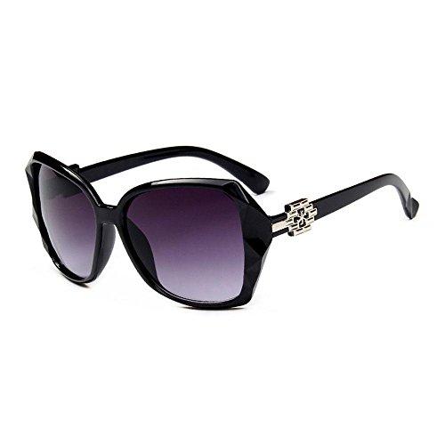 AOLVO Oversize Square Sonnenbrille für Damen UV-Schutz Vintage Nicht Polarisiert Eyewear Schwarz