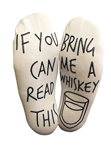 BRING ME SOCKS 'If You Can Read This Bring Me A Whiskey' Funny Ankle Socks - For Whiskey Lovers