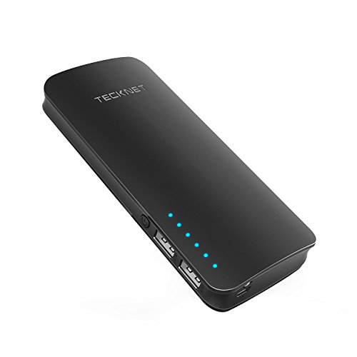 TeckNet PowerZen externer Akkupack, tragbares Ladegerät, 16750 mAh, 2-Port USB, Power Bank mit BLUETEK Smart-Ladetechnologie, für iPhone 8/7/7 Plus, iPad und Galaxy S8 und weitere