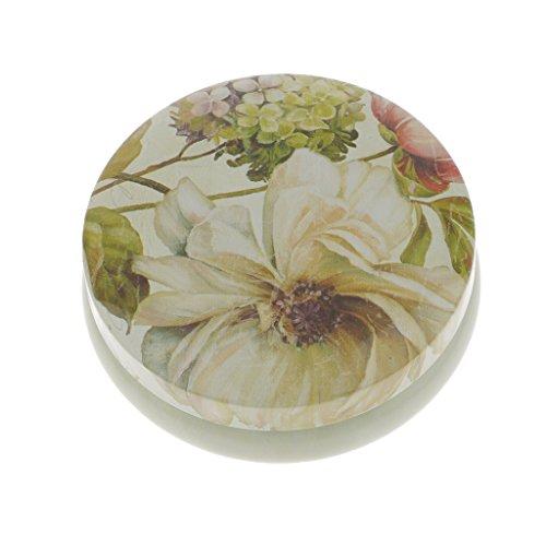 perfk Rund Metalldose Blechdose mit Deckel,Blume Form - Hellgelb