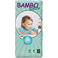 Bambo Nature Junior Size 5 (26-49lb / 12-22kg) Premium Eco-Nappies - 54 pieces / Tall Pack
